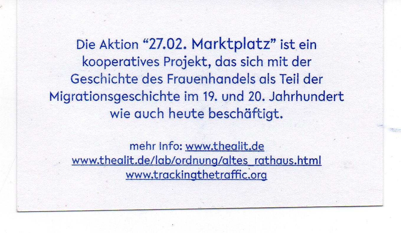 Tracking The Traffic Marktplatz Bremen 27 02 2015